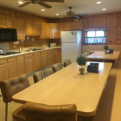 Another view of kitchen seating