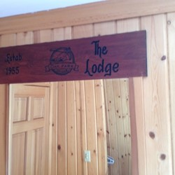 Lodge sign in Bedroom 3
